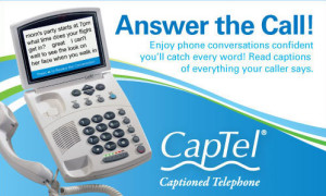 Visit with Captel at the Jasper Senior Expo on Wednesday