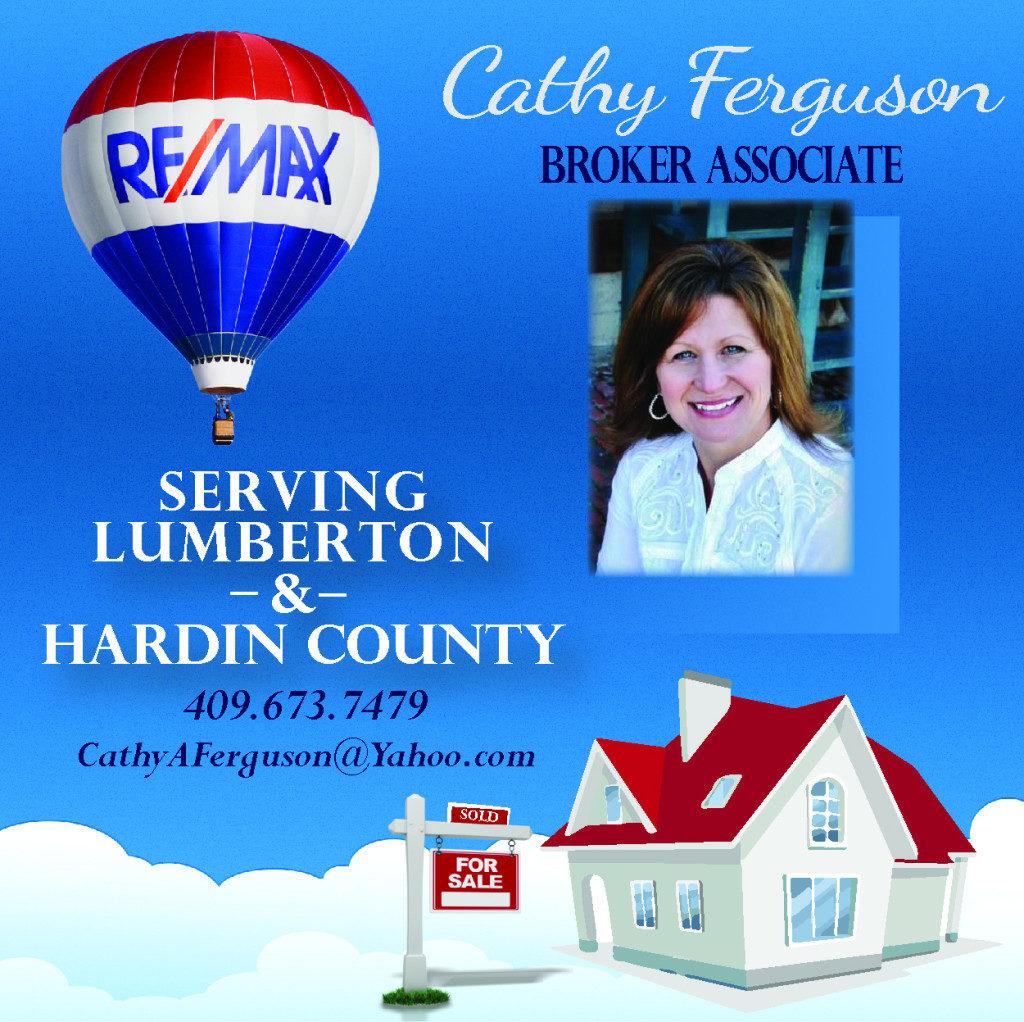 Cathy Ferguson Realtor Hardin County TX, Realtor Lumberton Tx, Realtor Hardin County Tx, Realtor Silsbee, Realtor Beaumont TX, Realtor Big Thicket, Realtor Sam Rayburn