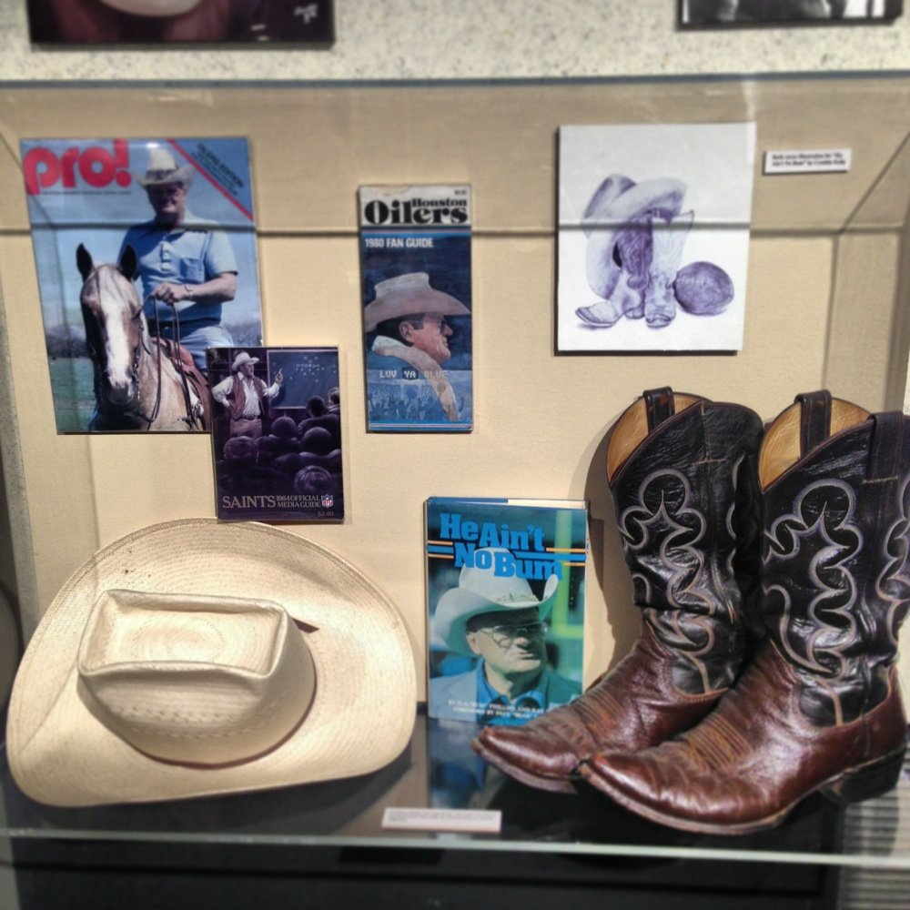 Bum Phillips, Bum Phillips Museum, Bum Phillips Exhibit, Bum Phillips Bio, Senior Expo Port Arthur, Senior events Port Arthur, Senior Expo Texas