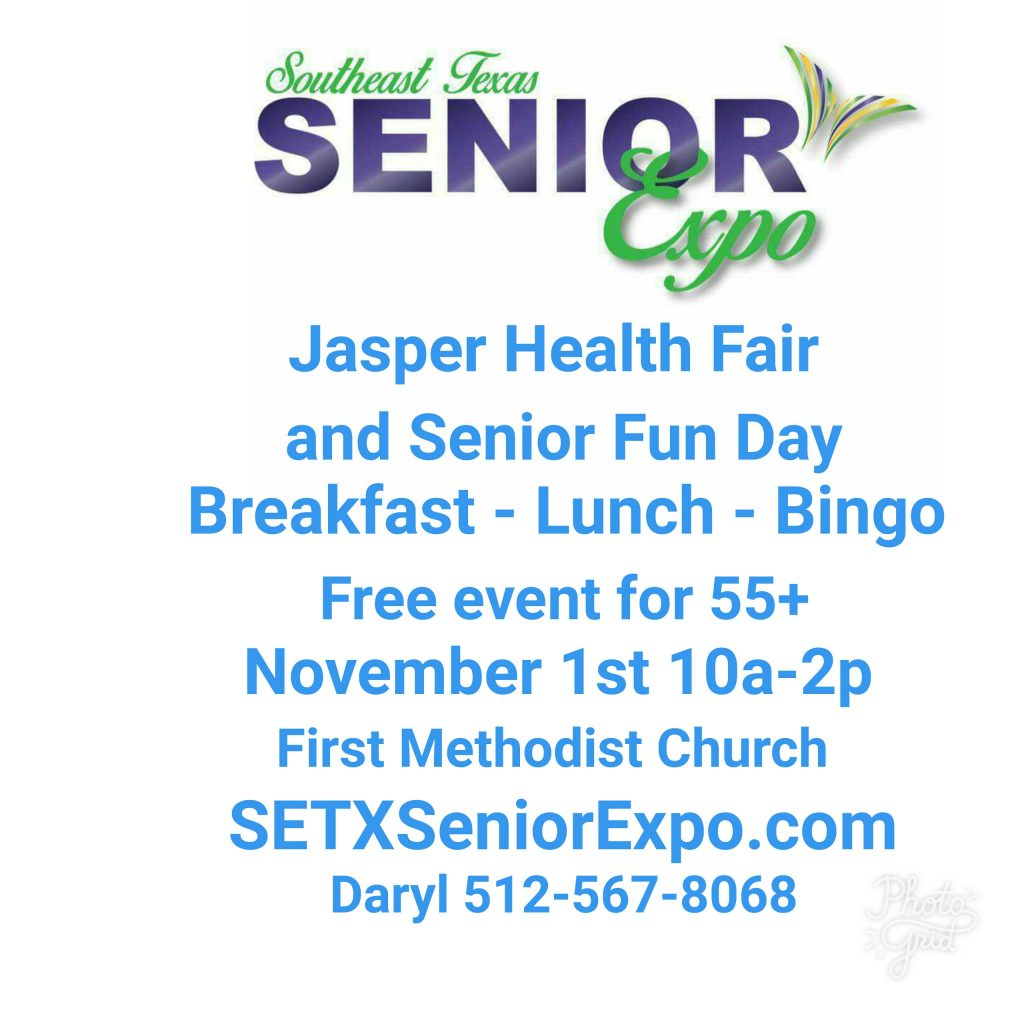 Jasper Senior Expo, Senior Expo Houston area, Senior events Jasper TX, senior marketing Southeast Texas, senior marketing East Texas