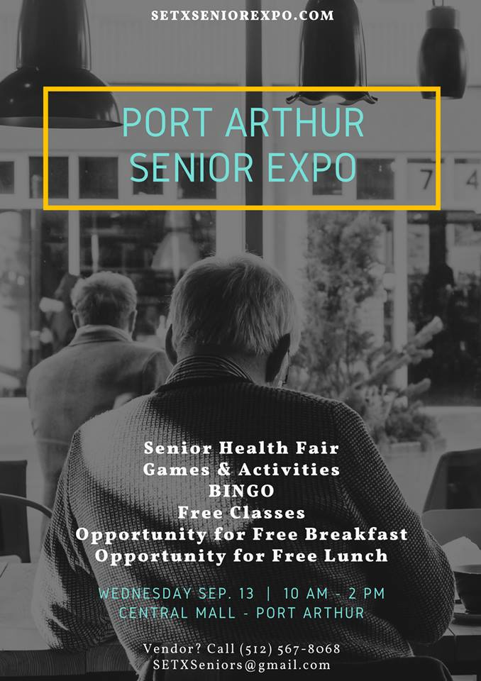 health fair Port Arthur, health fair Houston, senior events Texas, Port Arthur Senior Expo