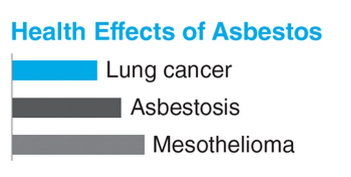 asbestos effects, asbestos health risk, asbestos and lung cancer, asbestos and mesothelioma