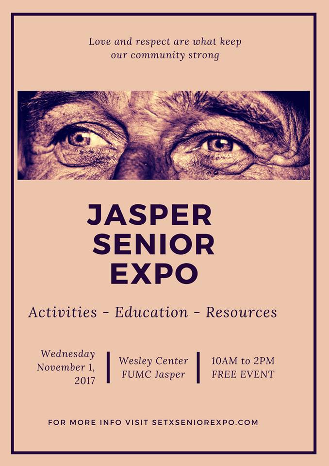 Jasper Senior Expo, Health Fair Jasper TX, Wesley Center Jasper TX, FUMC Jasper TX