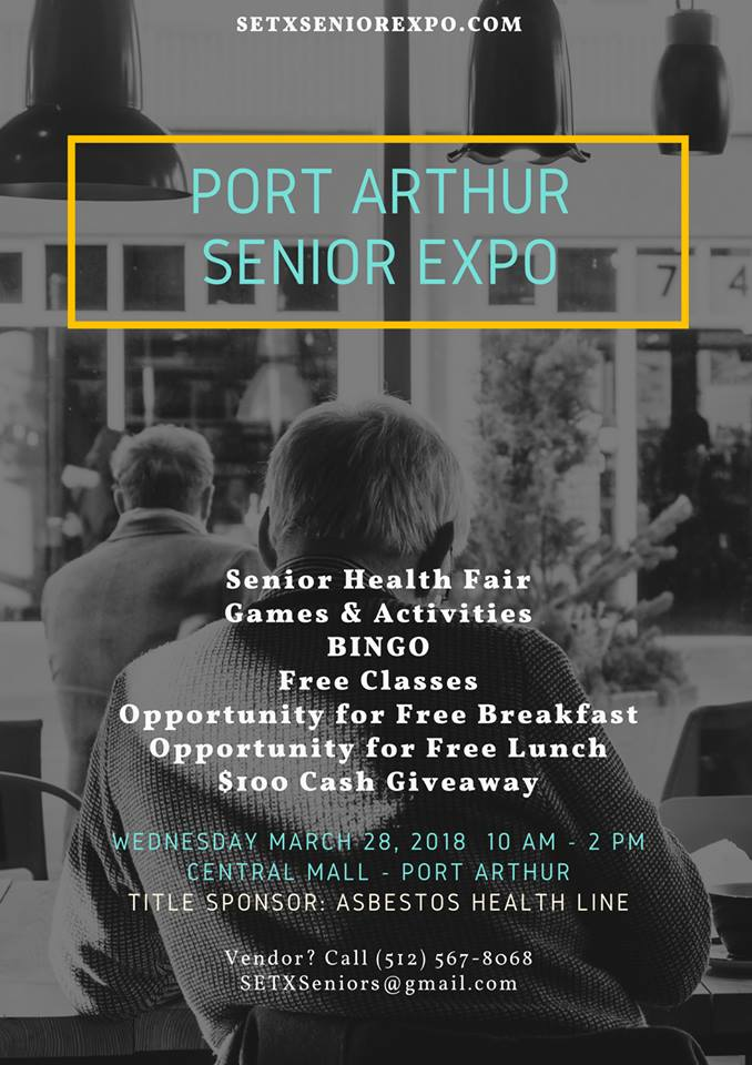Port Arthur Senior Expo, Central Mall Senior Expo, Mid County Senior Expo, Port Arthur Health Fair
