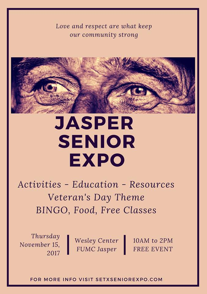 Jasper Senior Expo, Jasper Health Fair, Jasper Senior Events, health fair Jasper County TX, East Texas health fair, East Texas senior expo, East Texas senior citizen events