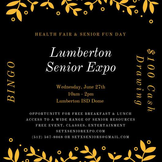 health fair Lumberton TX, Hardin County Health Fair, senior events Texas, senior events Houston TX, senior events East Texas, SETX health fair