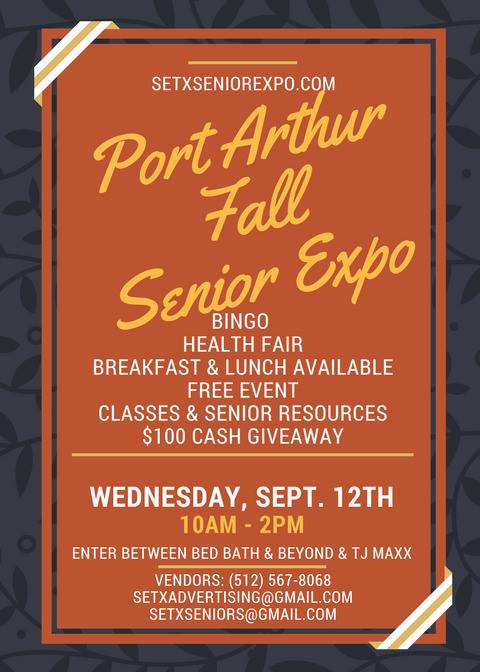 Port Arthur Senior Expo, Southeast Texas Senior Events, SETX health fairs, Golden Triangle senior news, Central Mall health fair, Central Mall senior expo