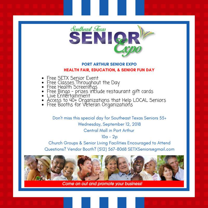 Port Arthur health fair, senior expo Mid County, senior activities Port Arthur Beaumont, Golden Triangle senior events