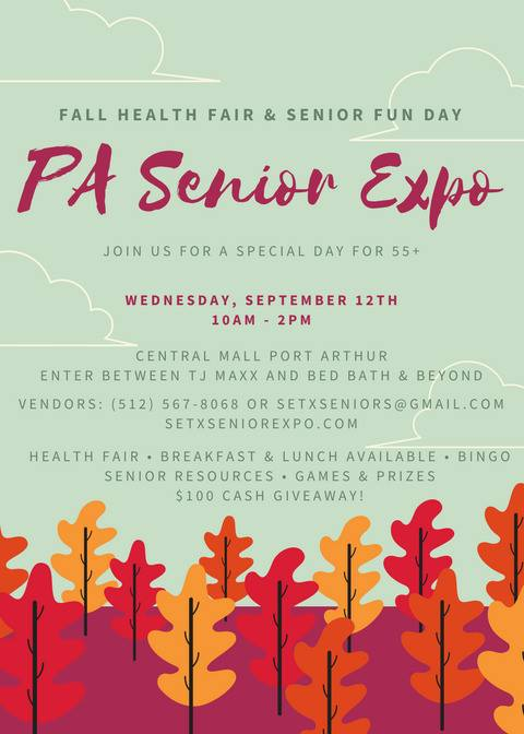 health fair Port Arthur, health fair Nederland TX, Mid County senior activities, Texas Health Fair Series