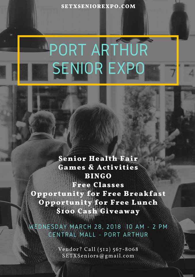 Port Arthur Senior Expo, Mid County Health Fair, Central Mall Senior Expo, Central Mall Health Fair